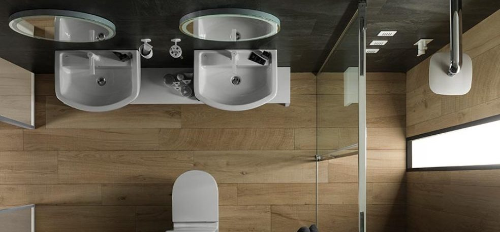 Compact bathrooms: design balance and functionality that make spaces visually bigger