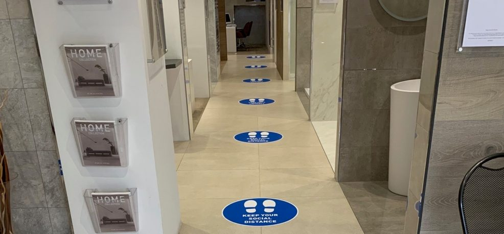 Covid Secure shopping at Surrey Tiles